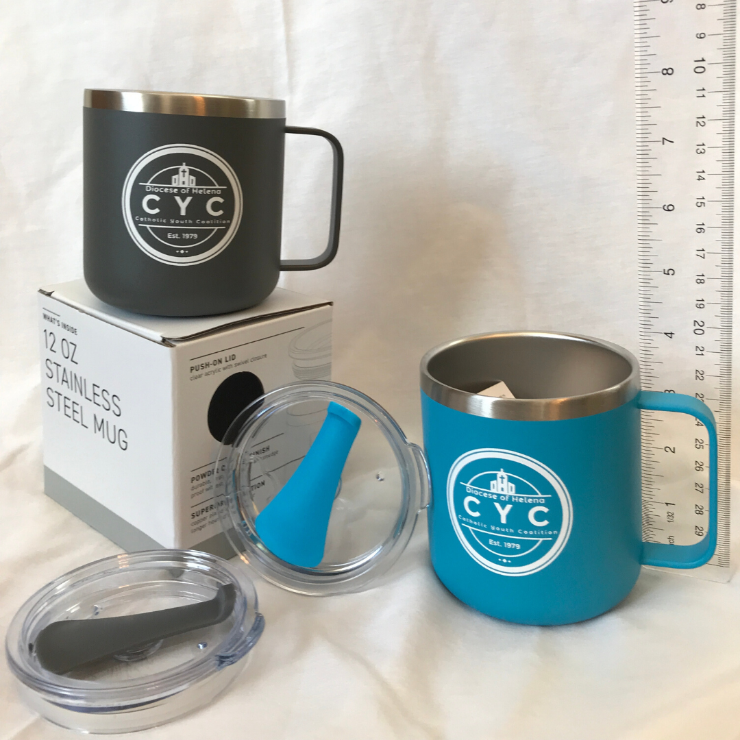 • Two colors: Matte Gray or Matte Aqua<br /> • Doulbe wall, 18/8 stainless steel thermal mug with copper vacuum insulation<br /> • Clear acrylic push-on lid with swivel closure<br /> • Powder coated finish<br /> • Supplies are very limited! If you would like to purchase more than 1 of the same color, then you will need to submit another form. Sorry for the inconvenience.